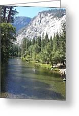 Merced River In Yosemite Greeting Card