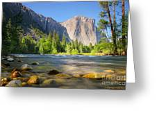 Merced River In Yosemite Valley Greeting Card by Buck Forester
