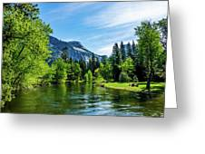 Merced River In Yosemite Valley Greeting Card