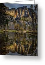 Merced River Morning Light Reflection Greeting Card