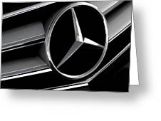 Mercedes Badge Greeting Card