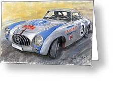 Mercedes Benz 300 Sl 1952 Carrera Panamericana Mexico  Greeting Card by Yuriy  Shevchuk