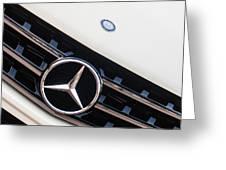 Mercedes-benz Emblem - Grille Logo -0030c Greeting Card