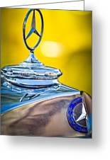 Mercedes-benz Hood Ornament - Emblem -0961c Greeting Card