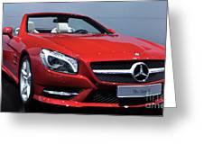 Mercedes Benz Sl Greeting Card