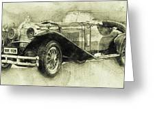 Mercedes-benz Ssk 1 - 1928 - Automotive Art - Car Posters Greeting Card
