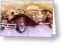 Mercedes-benz Ssk 2 - 1928 - Automotive Art - Car Posters Greeting Card