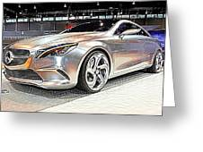 Mercedes Benz Style Coupe Concept Number 2 Greeting Card