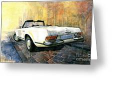 Mercedes Benz W113 280 Sl Pagoda Greeting Card