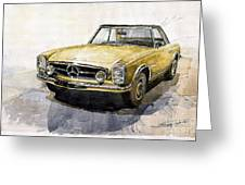 Mercedes Benz W113 Pagoda Greeting Card