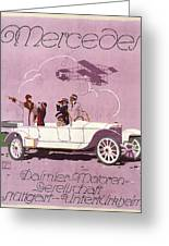 Mercedes Daimler C. 1910 Greeting Card