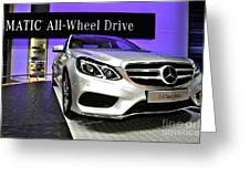 Mercedes E350 E Class 4matic No 2 Greeting Card