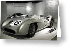 Mercedes Racer Greeting Card