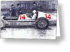 Mercedes W25c Monaco Gp 1936 Manfred Von Brauchitsch Greeting Card