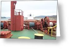 Merchant Vessel Deck Greeting Card