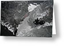 Mercurial Ice Abstract Greeting Card