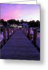 Meredith Nh Boardwalk At Twilight Greeting Card
