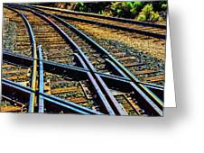 Merging Tracks Greeting Card