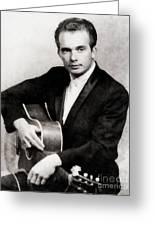 Merle Haggard, Music Legend By John Springfield Greeting Card