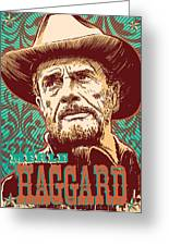 Merle Haggard Pop Art Greeting Card