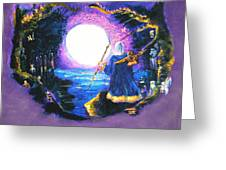 Merlin's Moon Greeting Card