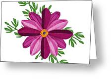 Merlot Cosmos Botanical Greeting Card by Anne Norskog