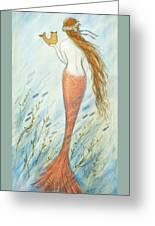 Mermaid And Her Catfish, Goldie Greeting Card