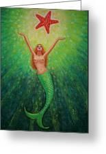 Mermaid Art- Mermaid's Starlight Greeting Card