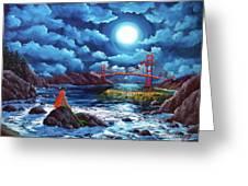 Mermaid At The Golden Gate Bridge  Greeting Card