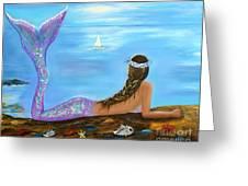 Mermaid Beauty On The Beach Greeting Card