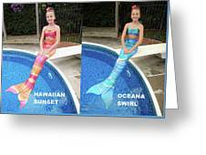 Mermaid Costume For Kids In Canada Greeting Card
