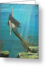 Mermaid Of Weeki Wachee Greeting Card