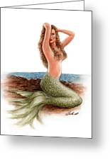 mermaid On The Shore Greeting Card