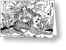 Mermaid Queen Greeting Card