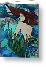 Mermaid  Sleeping Greeting Card