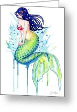 Mermaid Splash Greeting Card