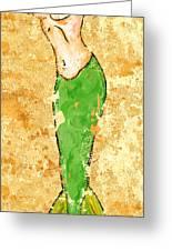 Mermaid Stretch Greeting Card