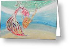 Mermaid Summer Salt Greeting Card
