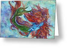 Mermaid Swimming Greeting Card