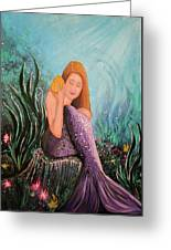 Mermaid Under The Sea Greeting Card