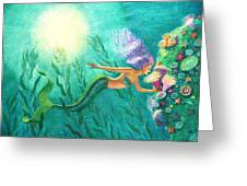 Mermaid's Garden Greeting Card