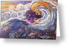 Mermaids In The Surf Greeting Card
