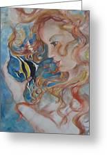 Mermaids Kiss Greeting Card