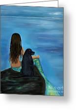 Mermaids Loyal Bud Greeting Card