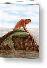 Merman Resting Greeting Card