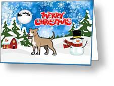 Merry Christmas American Pitbull Terrier  Greeting Card