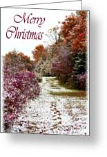 Merry Christmas Colours And Snow Greeting Card