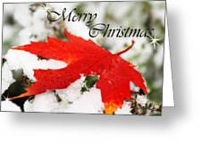 Merry Christmas Leaf Greeting Card