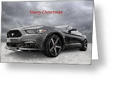 Merry Christmas Mustang S550 Greeting Card