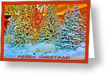Merry Christmas Polar Bears Greeting Card